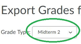 Midterm Grade 2 Drop Down