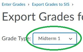Midterm Grade 1 Drop Down