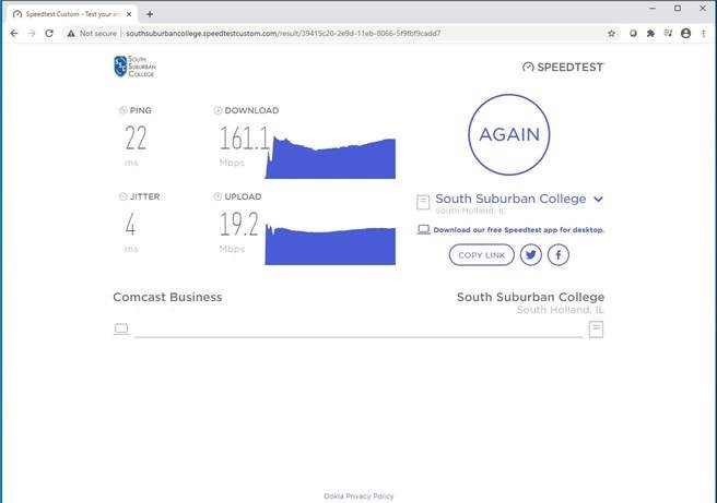Screen Shot 5 of Speed Test Process