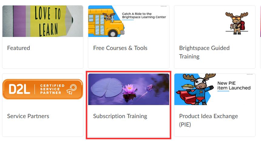 Subscription Training